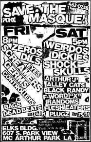 Los Angeles punk flyer / The Masque