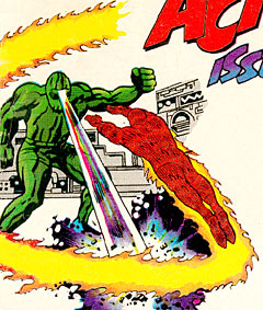 Human Torch : Kirby art