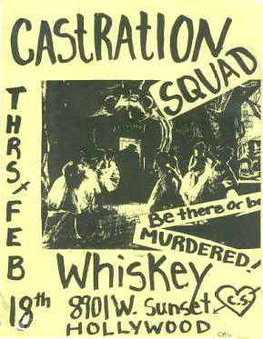 castration squad flyer / whiskey in hollywood