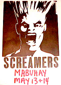 The Screamers punk rockflyer