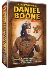 Fess Parker stars as Daniel Boone Season 1 on DVD