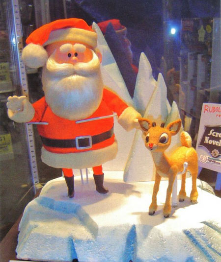 Santa Clause & Rudolph Animagic figure