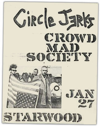 1982 punk rock flyer
