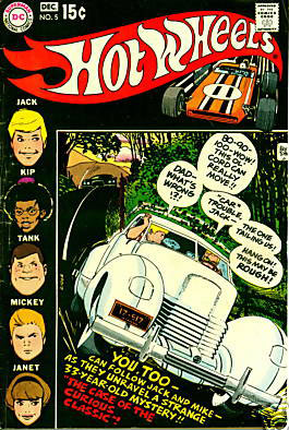 Hot Wheels Comics #5 / Alex Toth comic book of the 1970s