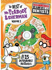 Peabody & Sherman cartoons on DVD