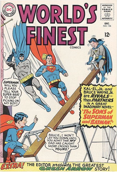 classic comic books - World's Finest # 154 / DC comics cover