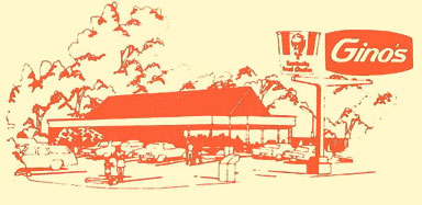 Fast Food Chains of the seventies - Ginos Burgers