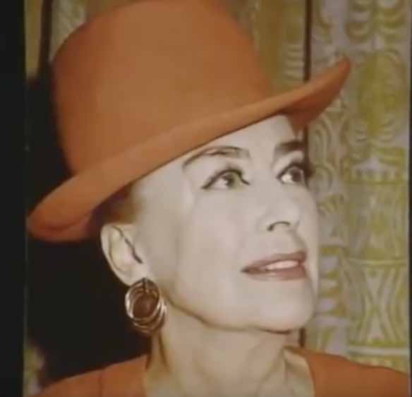 Joan Crawford at The Rainbow Room 1974 : Rare Video!