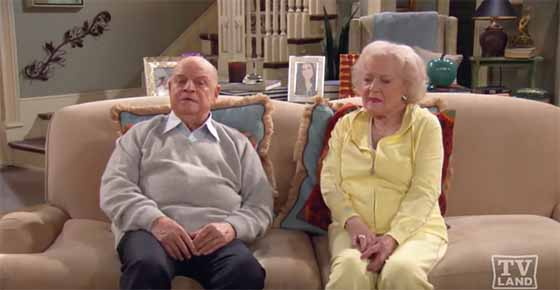 Don Rickles and Betty White