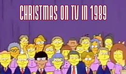 Christmas on TV in 1989