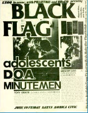 Black Flag punk flyer
