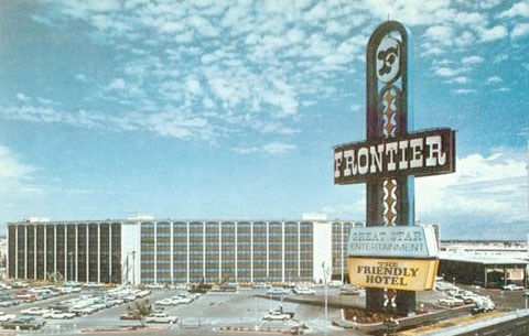 The Frontier hotel & casino postcard